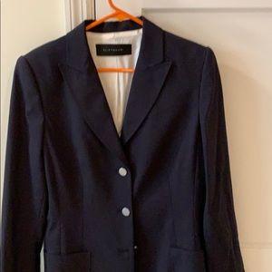 new Ellie Tahari navy lined blazer